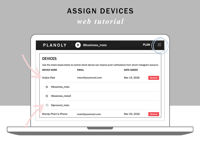 Planoly tutorial add devices